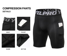 Load image into Gallery viewer, Mens Athletic Compression Shorts with Pocket Quick Dry Running Underwear
