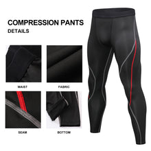 Load image into Gallery viewer, Mens Compression Pants Workout Clothes Gym Fitness Leggings Running Gear Yoga Tights Cool Dry Thermal Baselayer Underwear