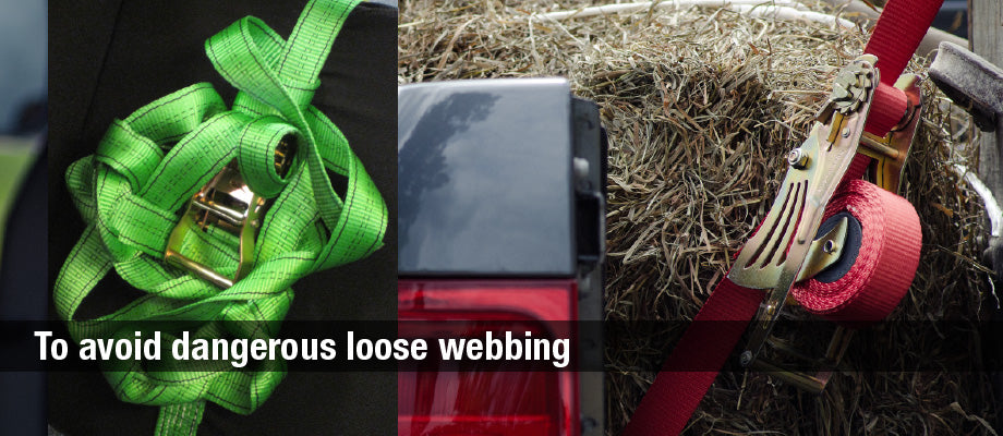 avoid dangerous loose webbing with quickloader retractable