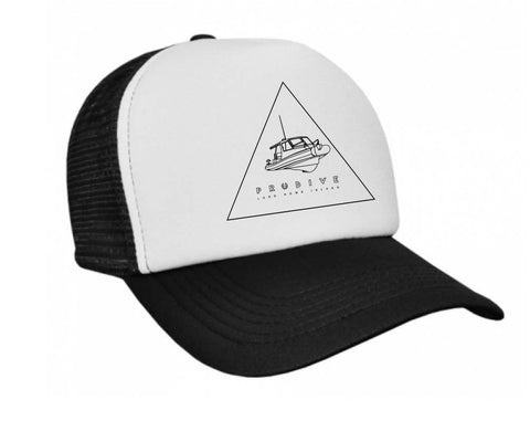 Black and White Trucker Cap