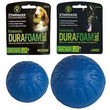 Starmark Fantastic DuraFoam Ball, Blue, Medium and Large