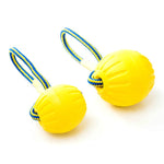 Starmark Swing 'n Fling DuraFoam Ball Dog Toy, Yellow, Medium and Large