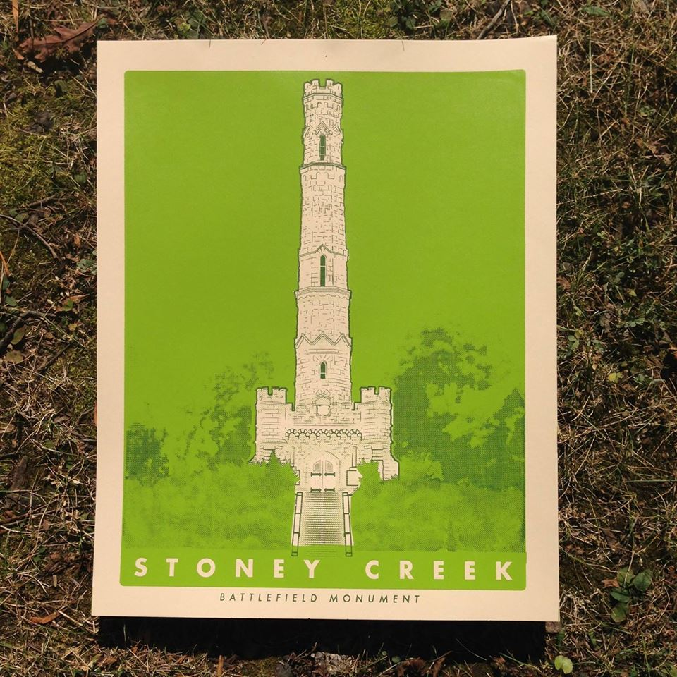 Battlefield Monument Screen Print