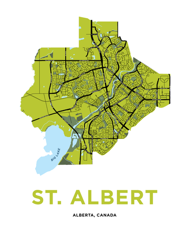 St. Albert Map Print