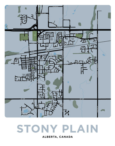 Stony Plain Map Print