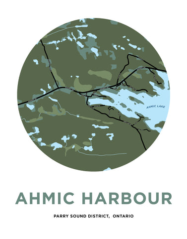 Ahmic Harbour Map Print