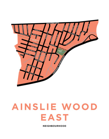 Ainslie Wood East Neighbourhood Map