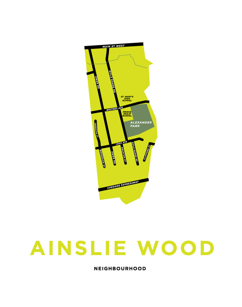 Ainslie Wood Neighbourhood Map