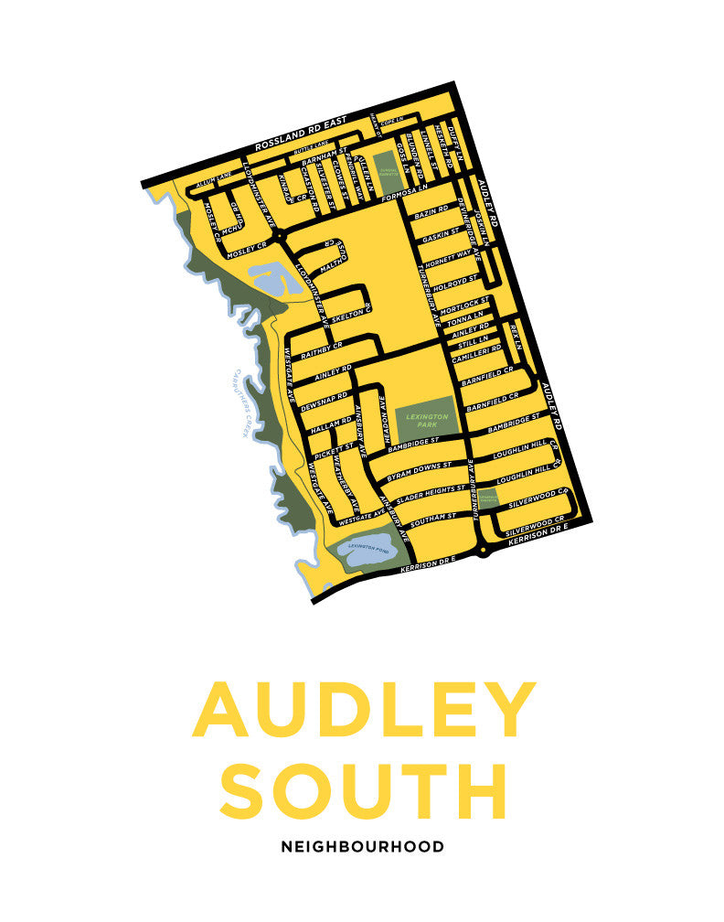 Audley South Neighbourhood Map Print