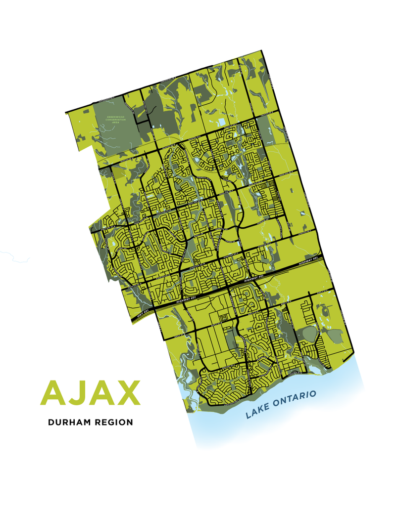 Ajax - Full Town Map Print