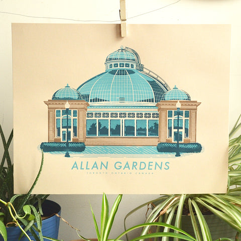 Allan Gardens Palm House Screen Print