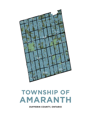 Amaranth Map Print