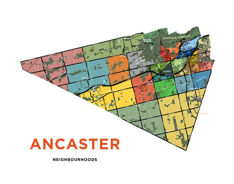Ancaster Neighbourhoods Map