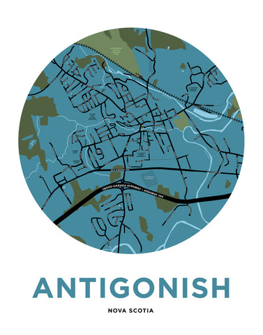 Antigonish Map Print