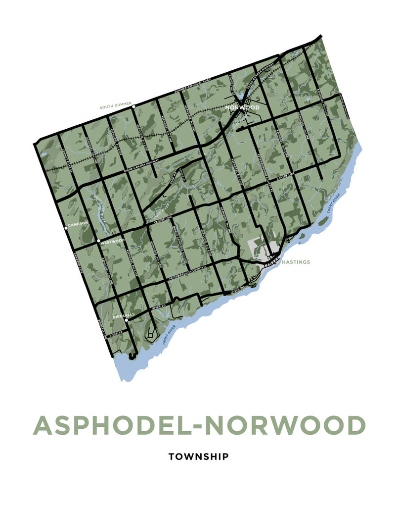 Asphodel-Norwood Township Map Print