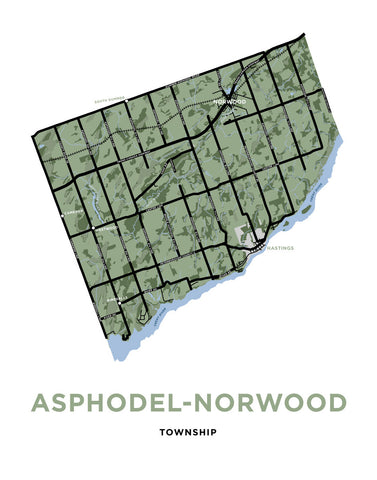 Map of Asphodel-Norwood Township