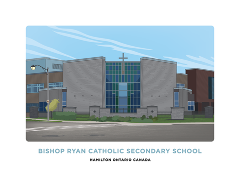 Bishop Ryan Catholic Secondary School Illustration