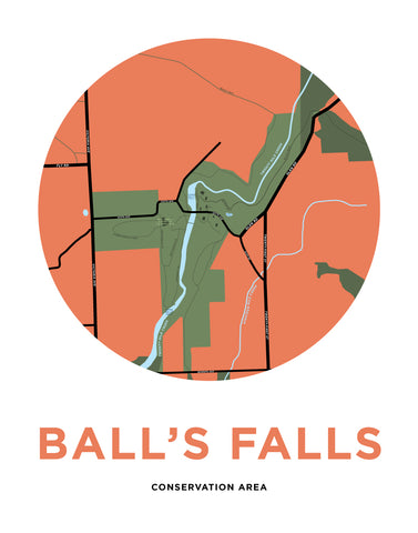 Ball's Falls Conservation Area Map Print