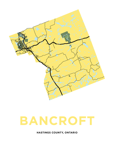 Bancroft Map Print - Full Municipality
