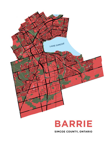 Barrie - Full City Map Print