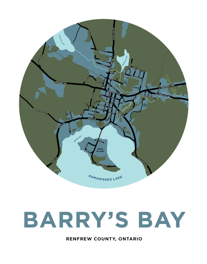 Barry's Bay Map Print