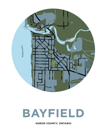 Bayfield Map Print