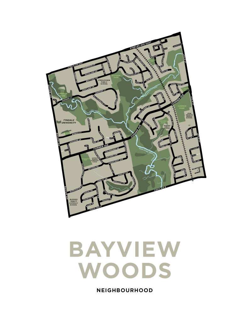 Bayview Woods Neighbourhood Map