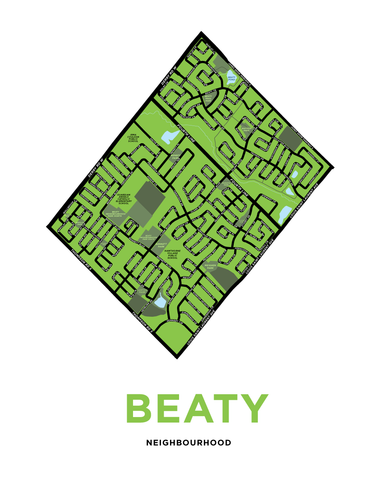 Beaty Neighbourhood Map Print