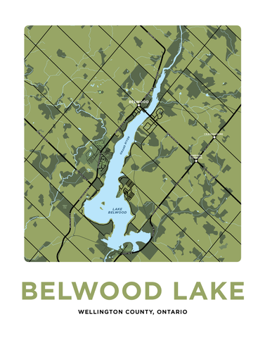 Belwood Lake Map Print
