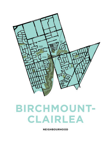 Birchmount-Clairlea Neighbourhood Map Print