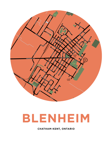 Blenheim Map Print