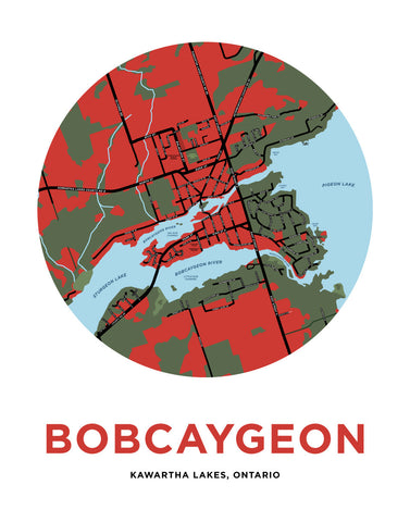 Bobcaygeon Map Print