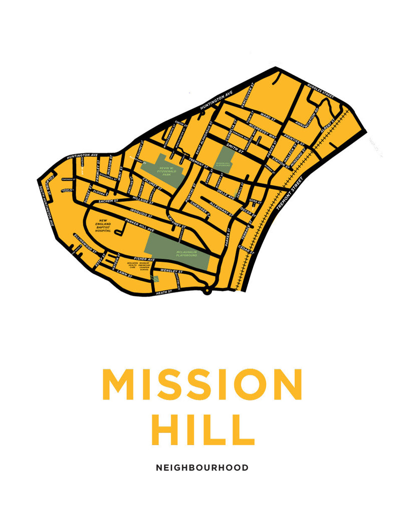 Mission Hill Neighbourhood Map Print
