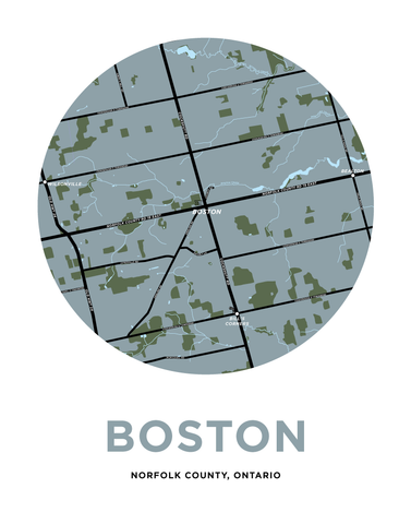 Boston Map Print (Norfolk County, Ontario)
