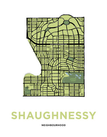 Shaughnessy Neighbourhood Map Print