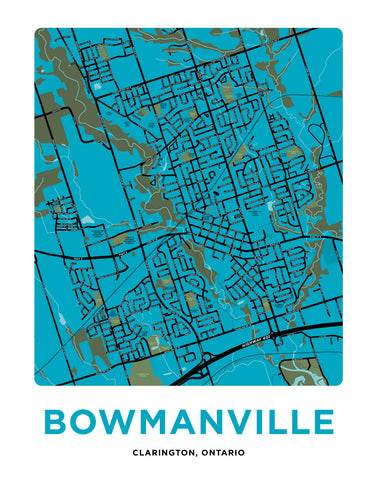 Bowmanville Map Print