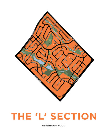 L Section Neighbourhood Map Print