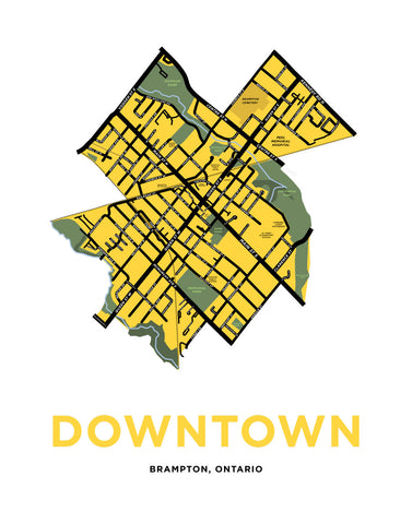 Downtown Brampton Map Print