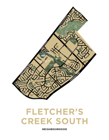 Fletcher's Creek South Neighbourhood Map Print