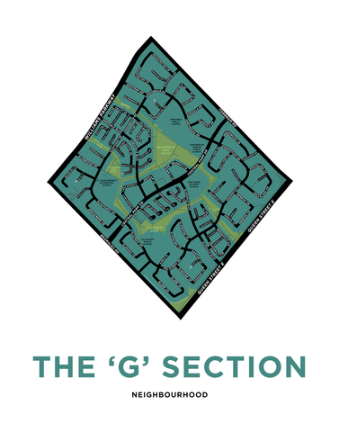 Bramalea - G Section Neighbourhood Map Print