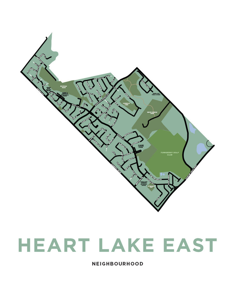 Brampton - Heart Lake East Neighbourhood Print