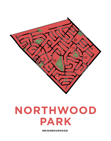 Northwood Park Neighbourhood Map Print