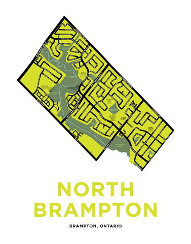 North Brampton Map Print