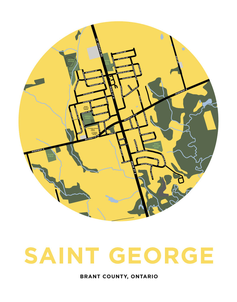 Saint George Map Print Jelly Brothers