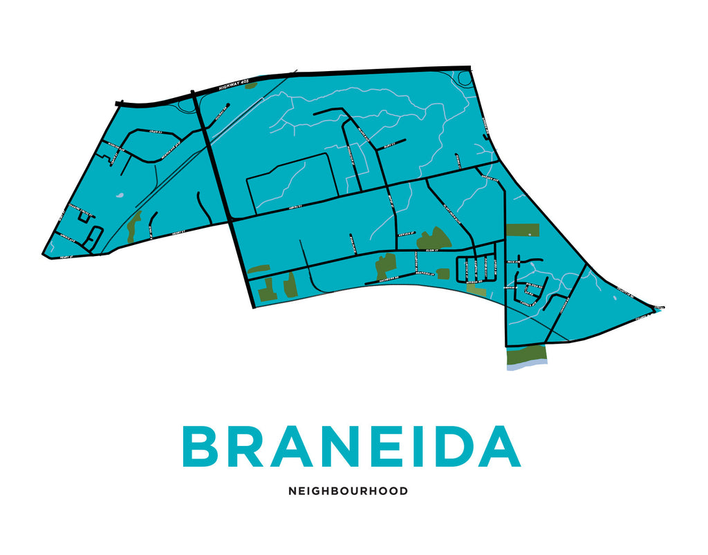 Braneida Neighbourhood Map (Brantford)