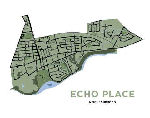 Echo Place Neighbourhood Map Print