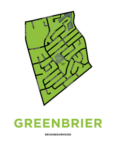 Greenbrier Neighbourhood Map Print
