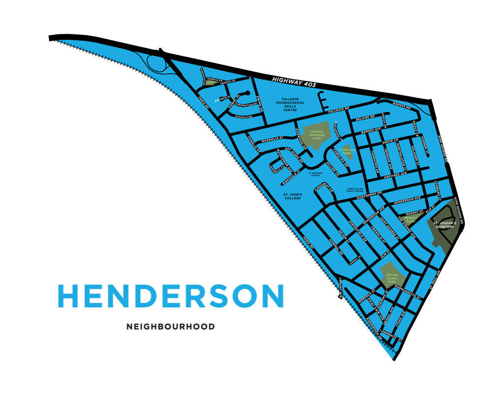 Henderson Neighbourhood Map (Brantford)