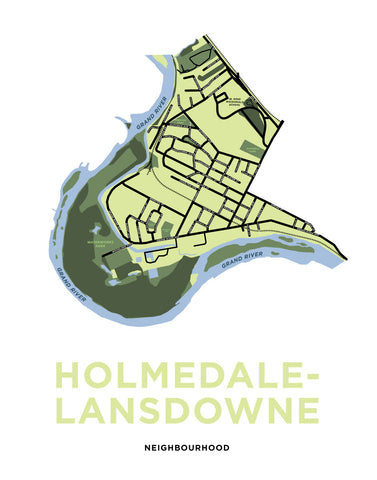 Holmedale-Lansdowne Neighbourhood Map Print