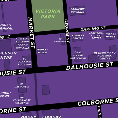 Wilfrid Laurier University - Brantford Campus Map Print